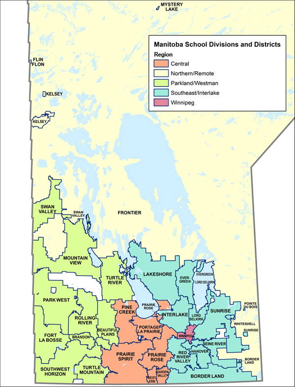 Manitoba School Divisions and Districts